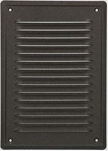 KOTARBAU® Lüftungsgitter 230x165 mm Abluftgitter Einschrauben Lackiert Kamin Belüftung Anthrazit Insektschutzgitter beständigt gegen Korrosion