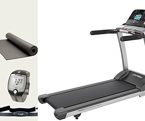 Life Fitness F3 Track Laufband inkl. Montage, Polar Pulsuhr und Bodenmatte