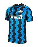 NIKE Inter M NK BRT Stad JSY SS Hm T-Shirt, Hombre, Blue Spark/White Full Sponsor, XS
