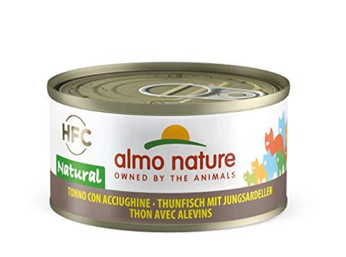 Almo Nature HFC Natural Katzenfutter nass -Thunfisch mit Jungsardellen 24er Pack (24 x 70g)