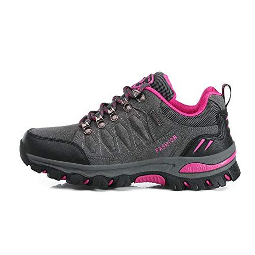 Sneaker Herren Damen Klettern Wanderschuhe Herren Outdoor Sportlich Schnüren Trekking Schuhe wasserfestem und atmungsaktivem