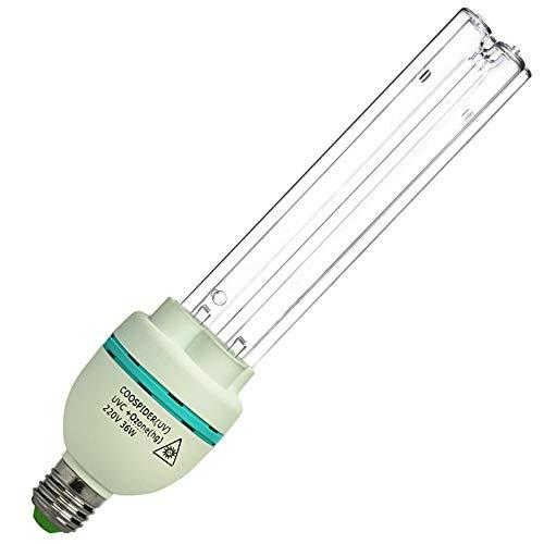 Lampadina UV germicida Lampadina con attacco a vite auto-ballast E27 220V 36 Watt (UVC con ozono sostituire lampadina)