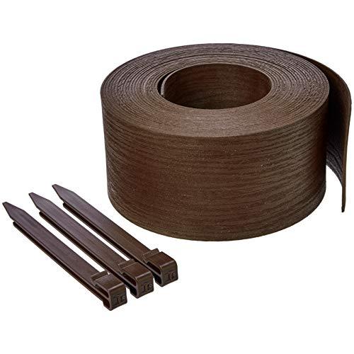 Amazon Basics - Bordura per aiuole con picchetti, 13 cm