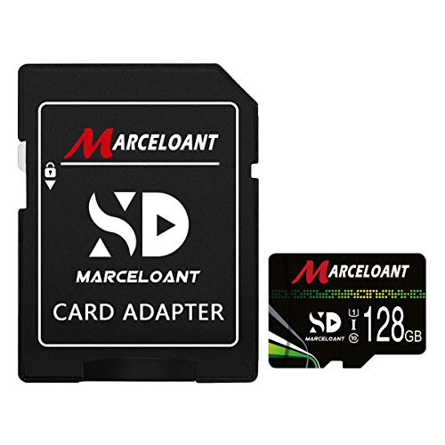 TF Card 128GB, Marceloant Memory Cards Class 10 TF Card with Adapter, High Speed Memory Card for Phone Camera Computer, Black/Green, Standard Packaging (128GB)