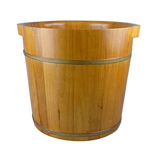 LJBXDCZ NJ badkuip met houten voeten, dubbele hoge kubus voor schoonheid en gezondheid, 3,6 cm Houtkleur.