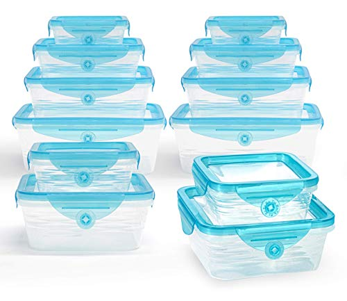 STRETCH and FRESH by Emson Silicone Food Storage System Airtight for Solid Food and Leak-Proof for Soups and Sauces Freezer-Safe BPA-Free As Seen On TV 24