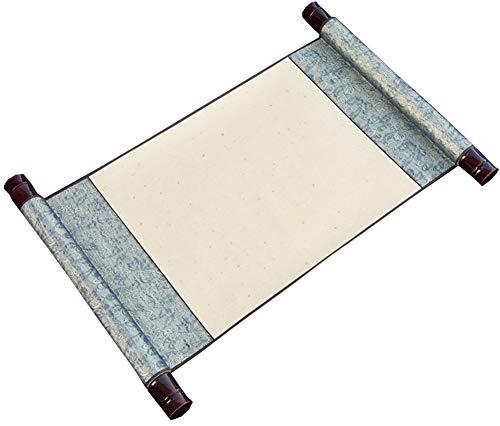 Calligraphie chinoise peinture rouleau de papier de riz antique vierge (50 * 27 cm), H1