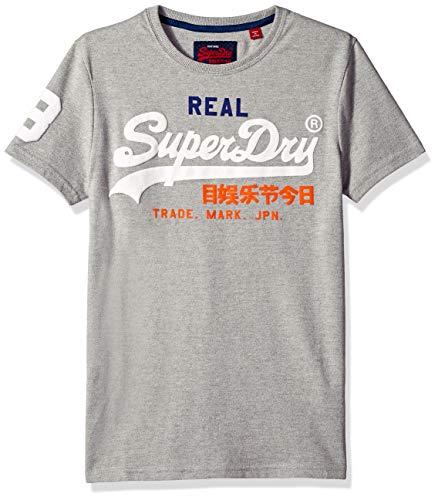 Superdry Men's Vintage Logo TRI T-Shirt, Montana Grey grit, XL