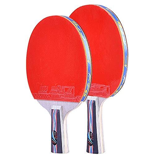 Lerten Paleta de Ping Pong, Raqueta de Tenis de Mesa Ligera, Ofensiva Profesional con Bolsa de Transporte para Actividades Familiares, Escuelas Y Clubes Deportivos / 6 star/A