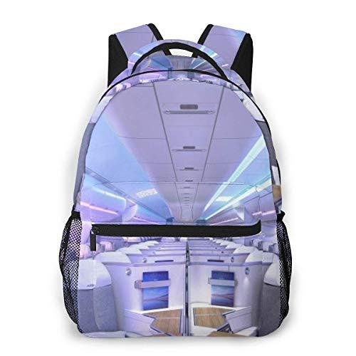 Yuanmeiju Fashion Unisex Backpack Luxury Aircraft Cabin Bookbag Lightweight Laptop Bag for School Travel Outdoor Camping