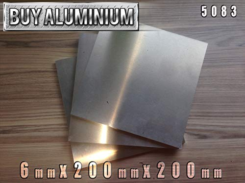 Aluminiumplatte, 6 mm, 5083, 200mm x 200mm, 1