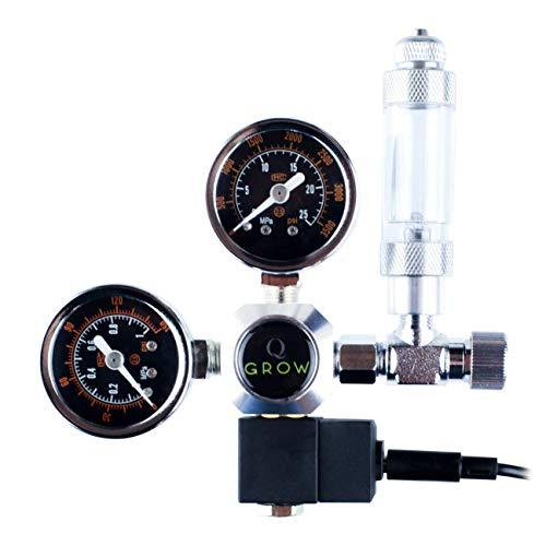 Q-Grow CO2 Druckminderer Regulator für Aquarium Aquaristik mit Nachtabschaltung und Blasenzähler