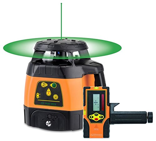 selbstnivellierender Rotationslaser geo-FENNEL FLG 245HV-GREEN mit Laserempfänger FR 45