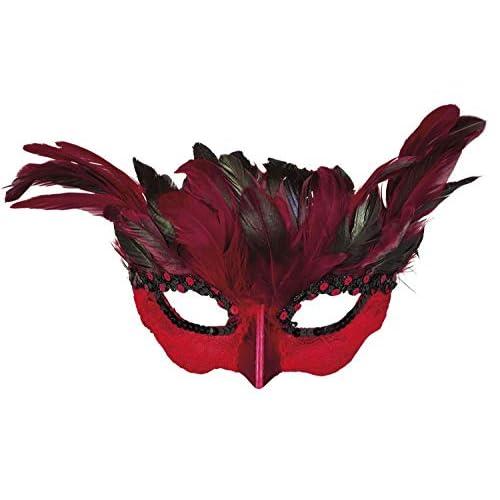 Boland 00822 - Maschera da diavoletto, da donna, colore: nero/rosso
