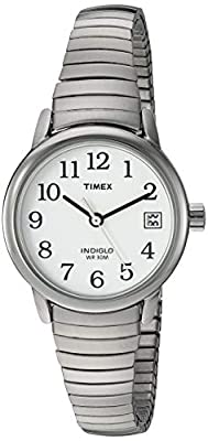 Timex Women's T2H371 Easy Reader 25mm Silver-Tone Stainless Steel Expansion Band Watch by Timex