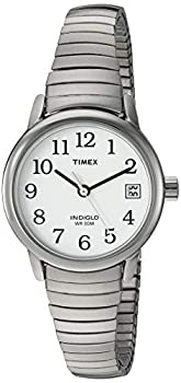 Timex Women s T2H371 Easy Reader 25mm Silver-Tone Stainless Steel Expansion Band Watch