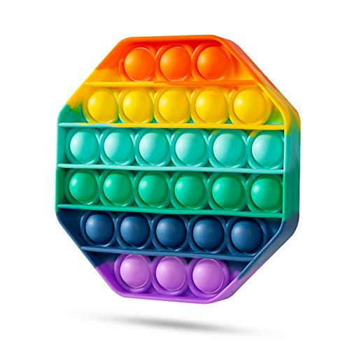 Squeeze Toy, Push Pop, Fidget Toy, Push Pop, Bubble Sensation, Decompression Goods, Stress Relief, Intelligence Development, Washable, Children's Day, For Children and Adults (Octagonal)