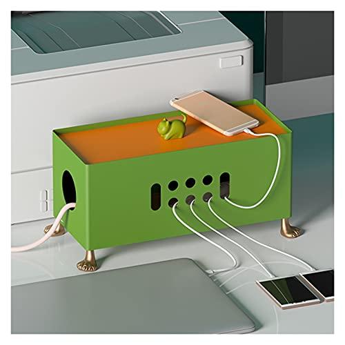 Caja de administrador de cables de metal de alambres grandes con cubierta de gato Caja de almacenamiento de cable de alimentación de escritorio Caja de almacenamiento Creative Power Strip Organizer ca