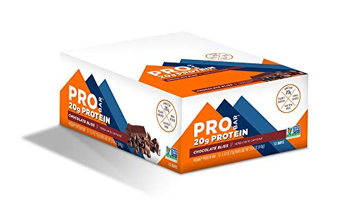 PROBAR - Base Protein Bar, Chocolate Bliss, Non-GMO, Gluten-Free, Certified Organic, Healthy, Plant-Based Whole Food Ingredients, Natural Energy (12 Count)