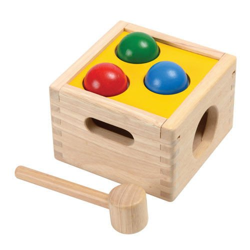 Plan Toys- Punch & Drop Caja golpea y Cae, Multicolor (1359424)