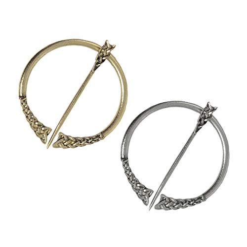 Hellery 2X Broche Retro Vikingo Nórdico De Fibula Celta Broche De Mantón De Mujer Pin De Sujetadores