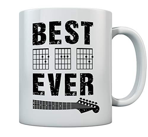 Guitarist Father Coffee Mug Best Dad Ever D A D Chord Gifts Guitar Dad Mug 11 Oz. White
