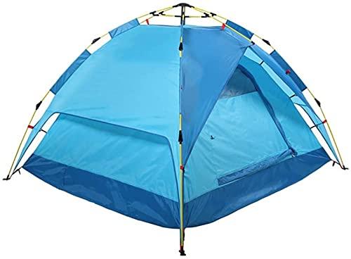 Tiendas de campaña, tienda emergente automática hidráulica |Tienda de campaña multifunción a prueba de viento impermeable doble |Camping al aire libre para senderismo, 3 colores (color: verde)