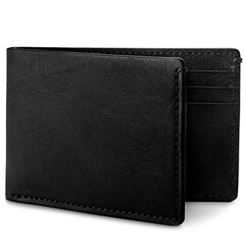 Bosca Men's Small Bifold Italian Leather Wallet In Black