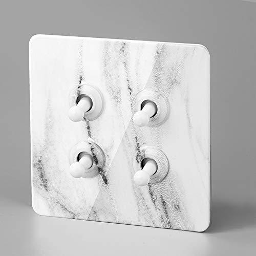 Ploutne Ultradelgada Panel de palanca del interruptor de imitación de mármol patrón Interruptor de acero inoxidable Interruptor de palanca 86 Oculto domésticos de pared luz del panel del interruptor d