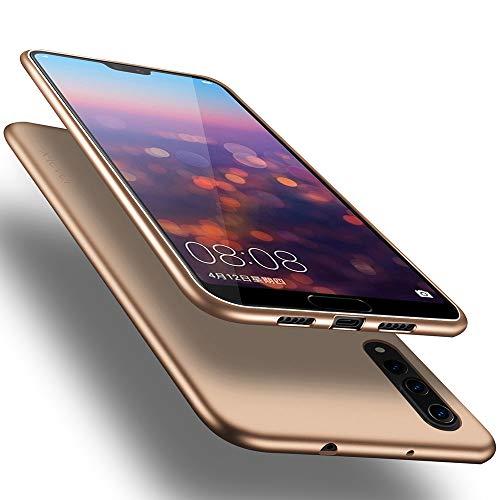 Huawei P20 Pro Hülle, [Guadian Serie] Soft Flex Silikon Premium TPU Echtes Telefongefühl Handyhülle Schutzhülle für Huawei P20 Pro Case Cover - Gold