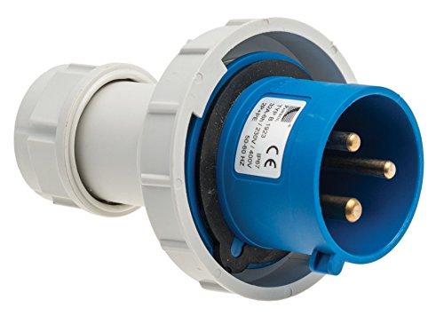 CEE Stecker, Caravan-Stecker SHARK 3-polig, 230V / 32A, Quick Connect, Anbaustecker, Gerätestecker, IP67, 6h