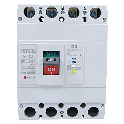 YHtech Circuit Breaker, interruptor de circuito 3P + N Protección diferencial automático 800V Todos cobre Contact circuito de corriente (350)