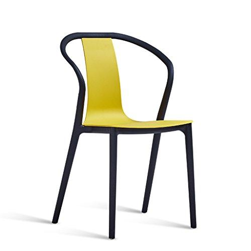 PLL rugleuning kruk startzijde verdikking kunststof tafel stoel balkon vrije tijd stoel montage groen geel zwart