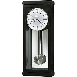 Howard Miller Alvarez Wall Clock 625-440 – Black Satin with Quartz, Triple-Chime Movement