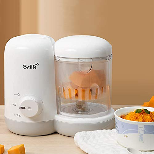 Bable Baby Food Maker Steamer and Blender- 2-in-1, Baby Food Processor Ease to Steam Chop Vegetable Nuts Meat to Puree Soup Juice Mushes, One-Hand Control, Quick Clean, Mini Size with Safe Material