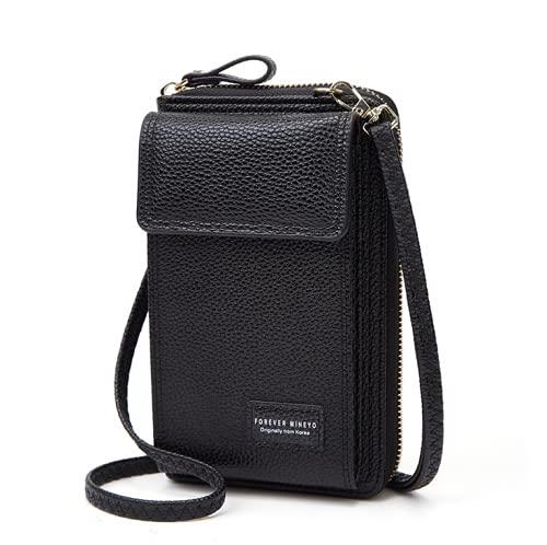 Cartera de embrague de la bolsa del teléfono del Crossbody de las mujeres, monedero del teléfono móvil Multi-compartimentos del sostenedor del teléfono mini bolso del hombro