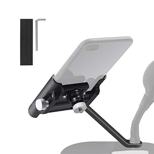 JEEZAO Anti-rutsch Handyhalterung Fahrrad für die Lenkstange, 4-6,5 Zoll Smartphones (Schwarz 1)