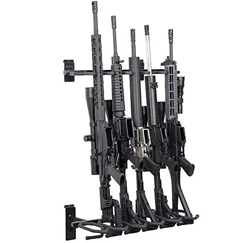 Hold Up Displays –Slatwall 6 Gun Rack and Rifle Storage...