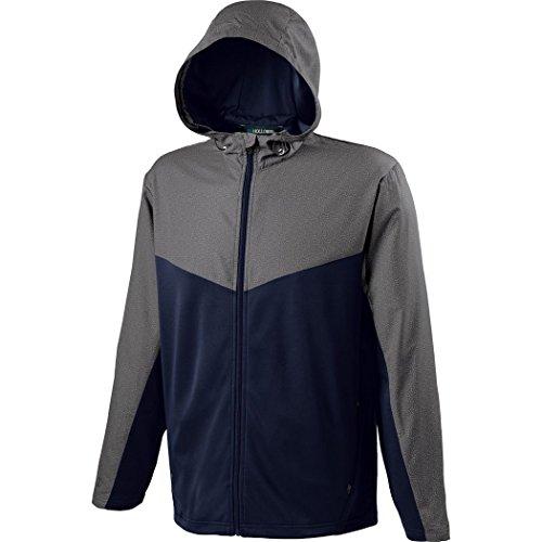Holloway Sportswear MEN'S CROSSOVER JACKET Men's XL Grey Print/Navy