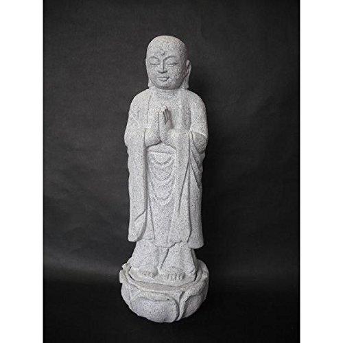 合掌地蔵10号天然石丸彫り