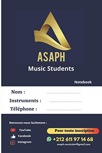 Asaph Music Students notebook