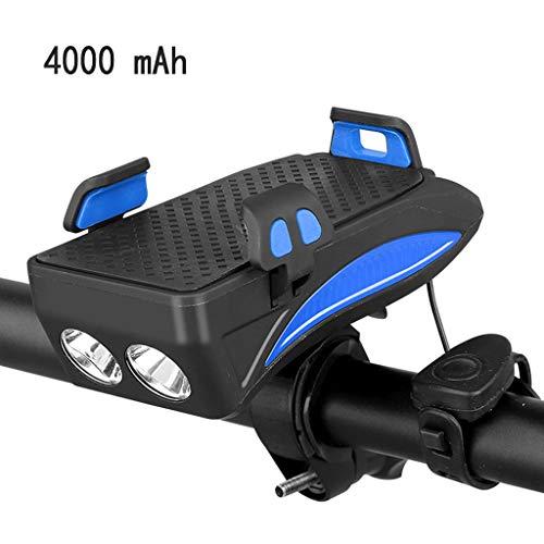 ZChun Fiets licht mobiele telefoon houder, paardrijden koplamp luidspreker LED USB standaard ondersteuning