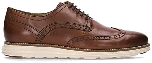 Cole Haan Men's Original Grand Wingtip Oxford, Woodbury Leather/Ivory, 14