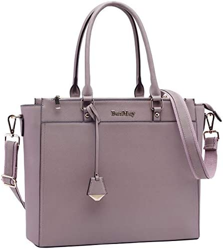 Laptop Tote Bag 15 6 17 Inch Laptop Bag for Women Large Work Tote Bag with Multi Pocket Purple product image