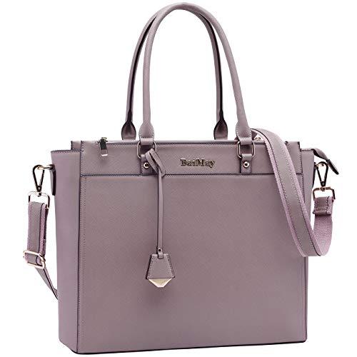 BAIMAY Laptop Bag for Women 15 15.6 Inch Work Tote Bag Office Handbag Business Briefcase Multi Pockets Laptop Shoulder Bag with Exquisite Pendant for Work School Travel