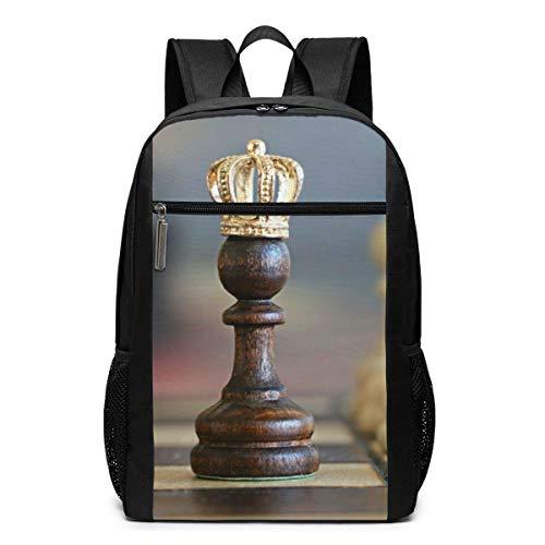 WLQP - Mochila con Pieza de ajedrez, Divertida y Divertida, para Acampar, Mochila para niños, Mochila para niños y niñas de 17 Pulgadas