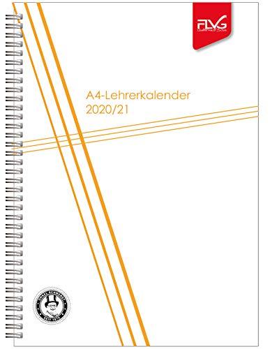 A4 Lehrerkalender FLVG Verlag 2020/2021 Lehrer Kalender A4 Sonderedition weiß