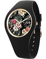 Ice-Watch - ICE flower Colonial - Montre noire pour femme avec bracelet en silicone