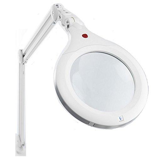 Daylight-Ultra Slim Magnifying Lamp XR 7-Inch, White