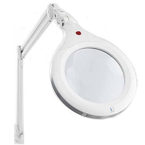 Daylight-Ultra Slim Magnifying Lamp XR 7-Inch, White